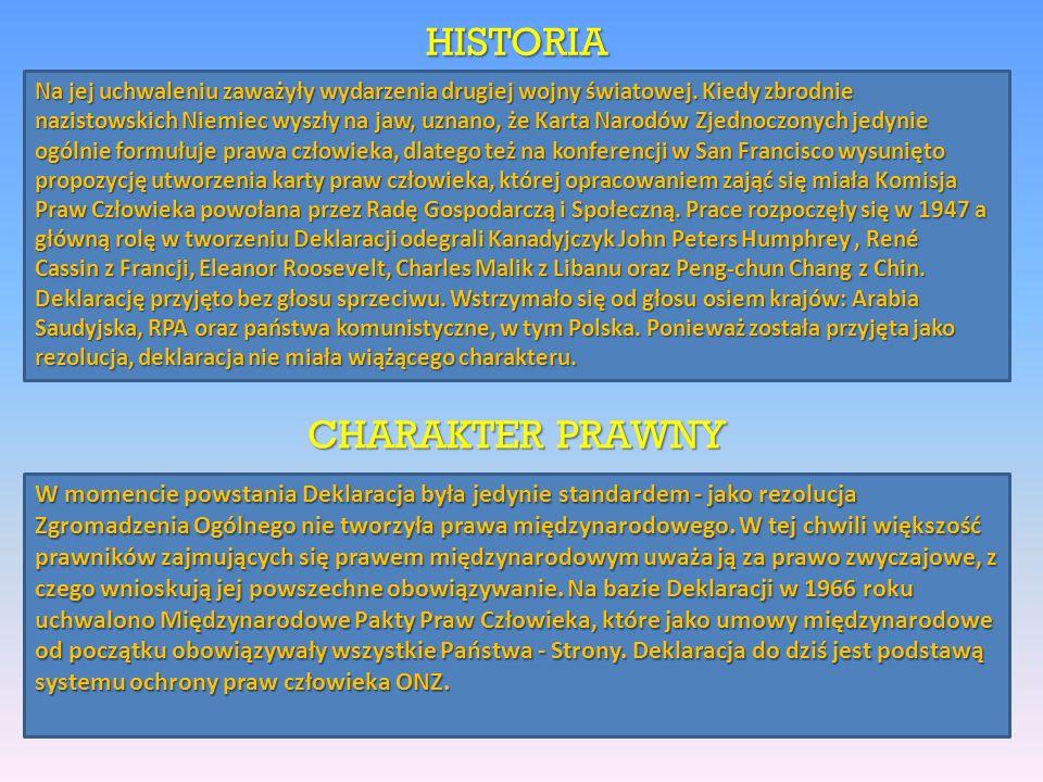 HISTORIA CHARAKTER PRAWNY