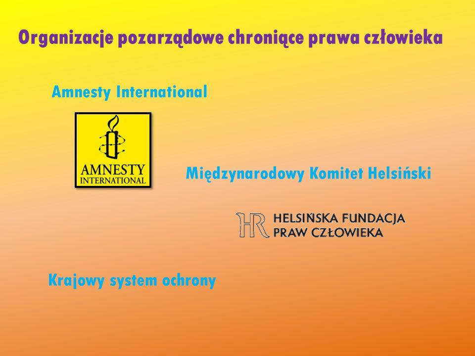 Organizacje pozarządowe chroniące prawa człowieka
