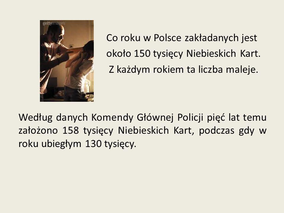 Co roku w Polsce zakładanych jest około 150 tysięcy Niebieskich Kart