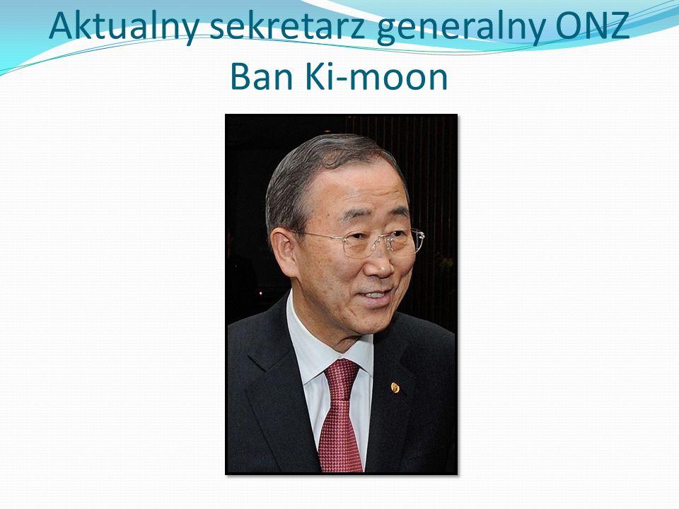 Aktualny sekretarz generalny ONZ Ban Ki-moon