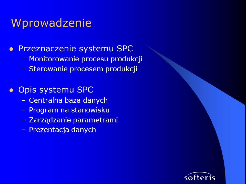 Wprowadzenie Przeznaczenie systemu SPC Opis systemu SPC