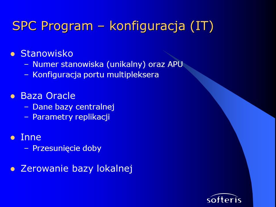 SPC Program – konfiguracja (IT)