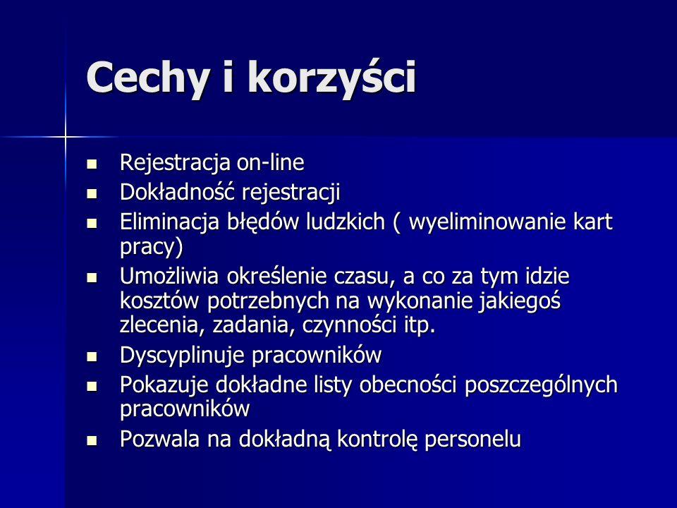 Cechy i korzyści Rejestracja on-line Dokładność rejestracji