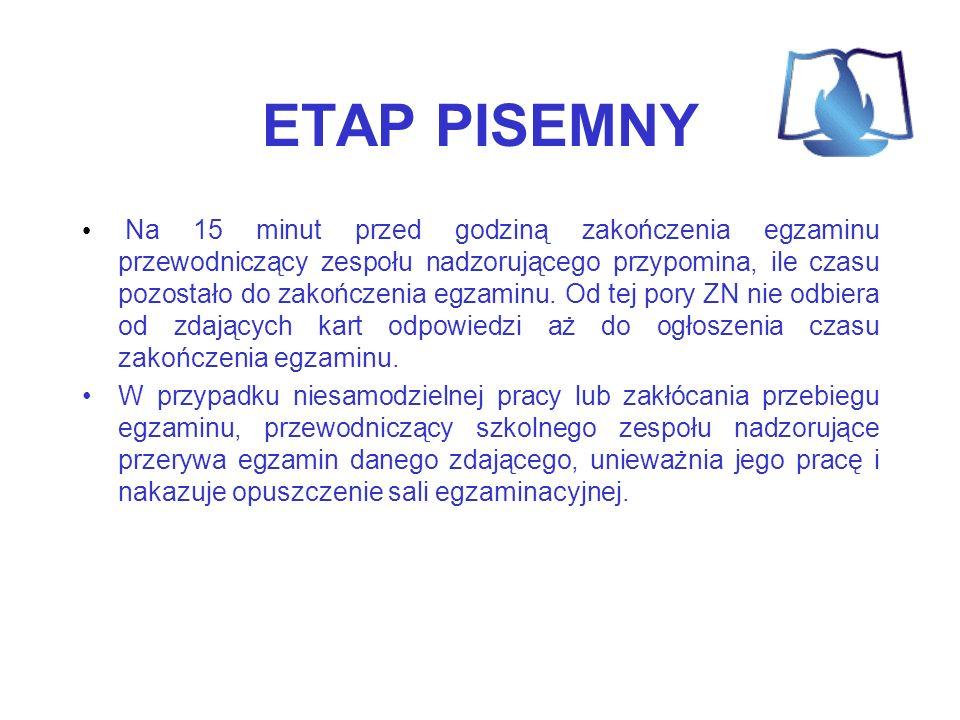 ETAP PISEMNY