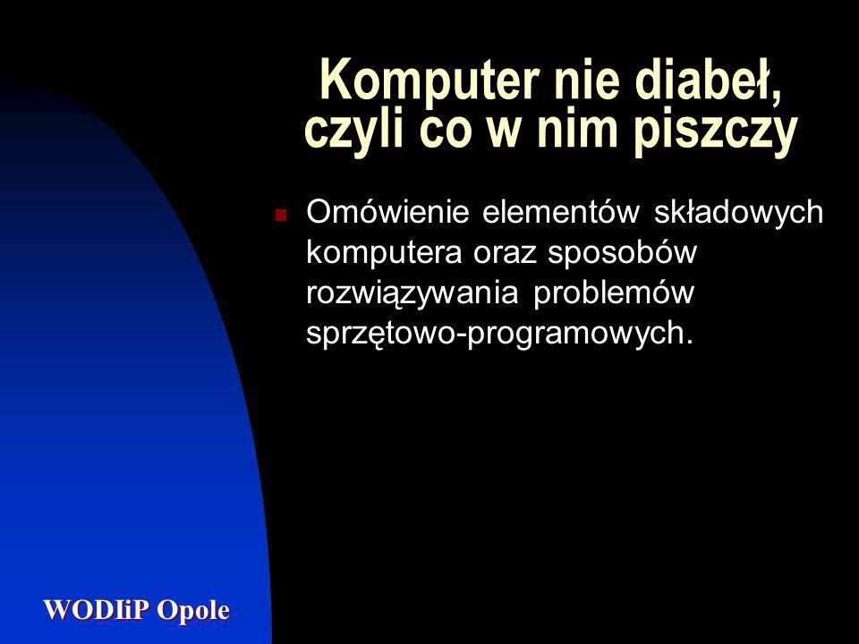 Komputer nie diabeł, czyli co w nim piszczy