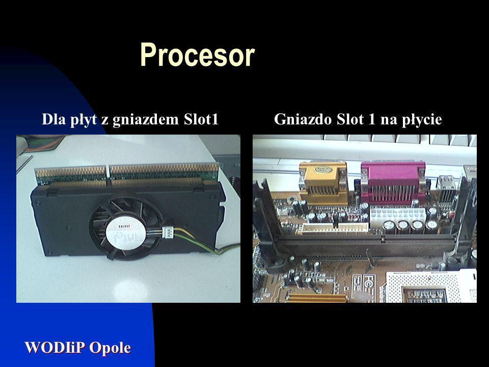 Procesor Dla płyt z gniazdem Slot1 Gniazdo Slot 1 na płycie
