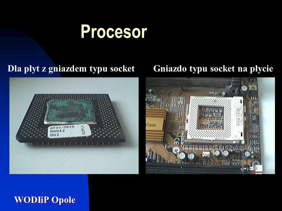 Procesor Dla płyt z gniazdem typu socket Gniazdo typu socket na płycie