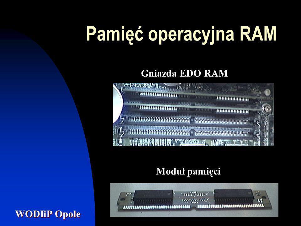 Pamięć operacyjna RAM Gniazda EDO RAM Moduł pamięci