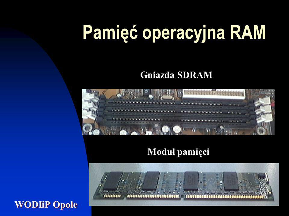Pamięć operacyjna RAM Gniazda SDRAM Moduł pamięci