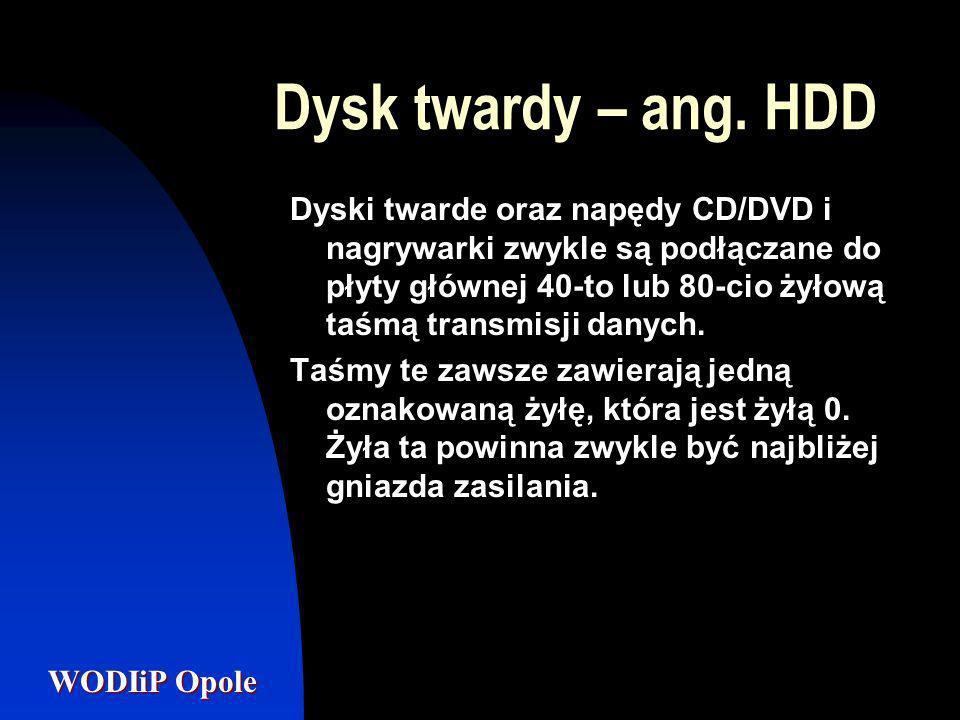 Dysk twardy – ang. HDD