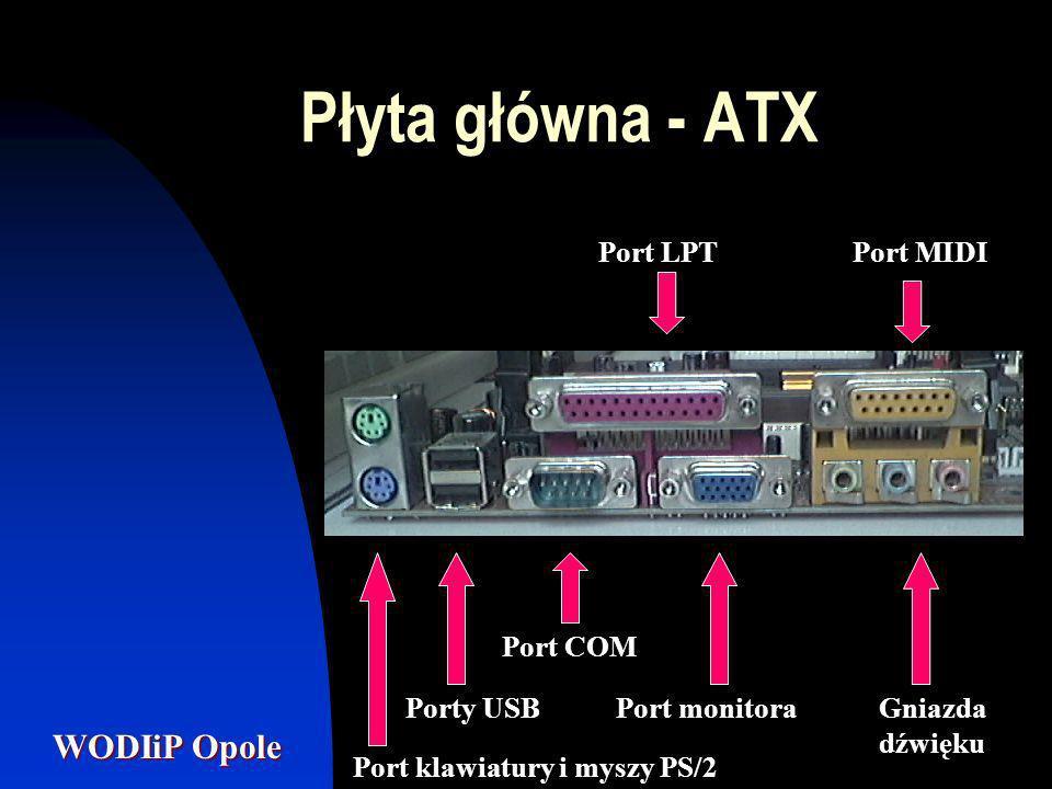 Płyta główna - ATX Port LPT Port MIDI Port COM Porty USB Port monitora