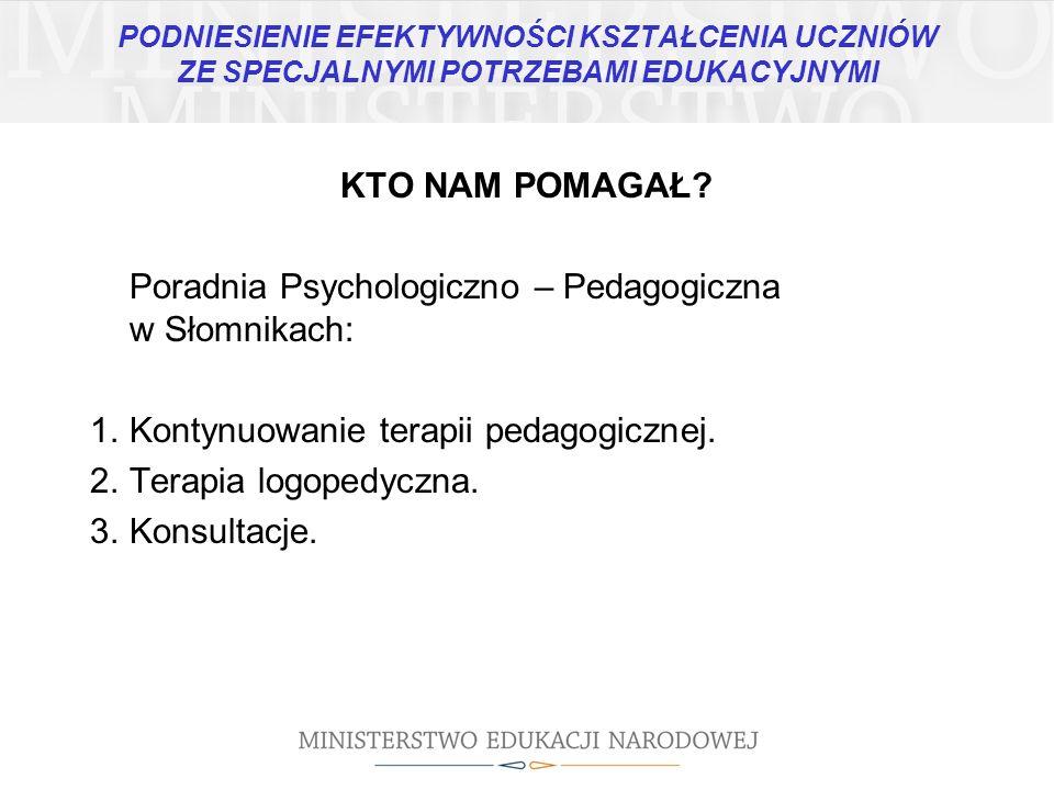 Poradnia Psychologiczno – Pedagogiczna w Słomnikach: