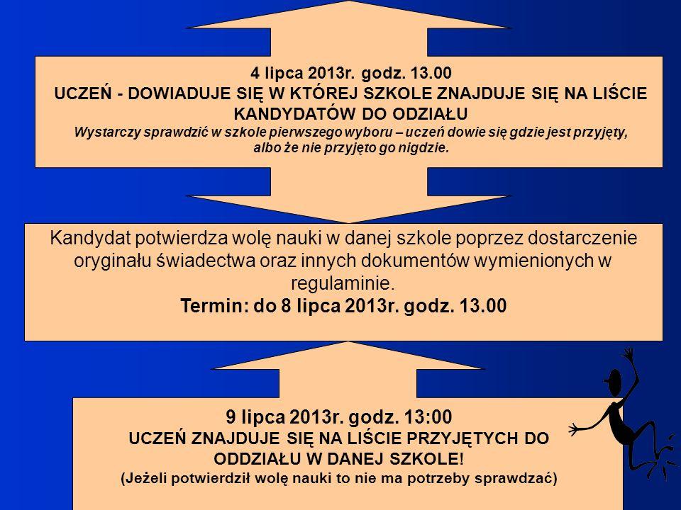 Termin: do 8 lipca 2013r. godz. 13.00 9 lipca 2013r. godz. 13:00