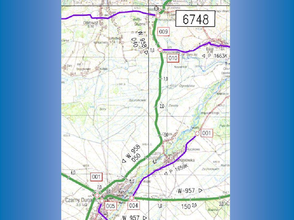 fragment mapy modelu sieci dróg na obszarze województwa małopolskiego