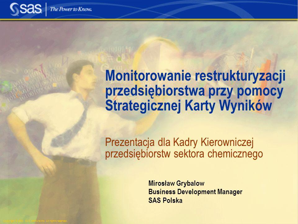 Mirosław Grybalow Business Development Manager SAS Polska