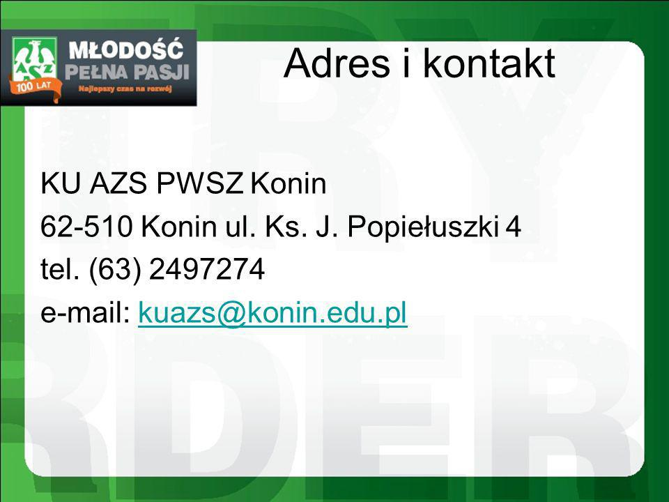 Adres i kontakt KU AZS PWSZ Konin