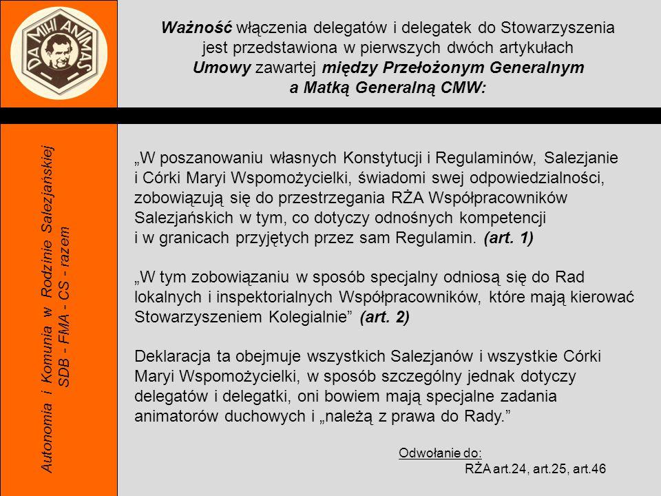 Ważność włączenia delegatów i delegatek do Stowarzyszenia