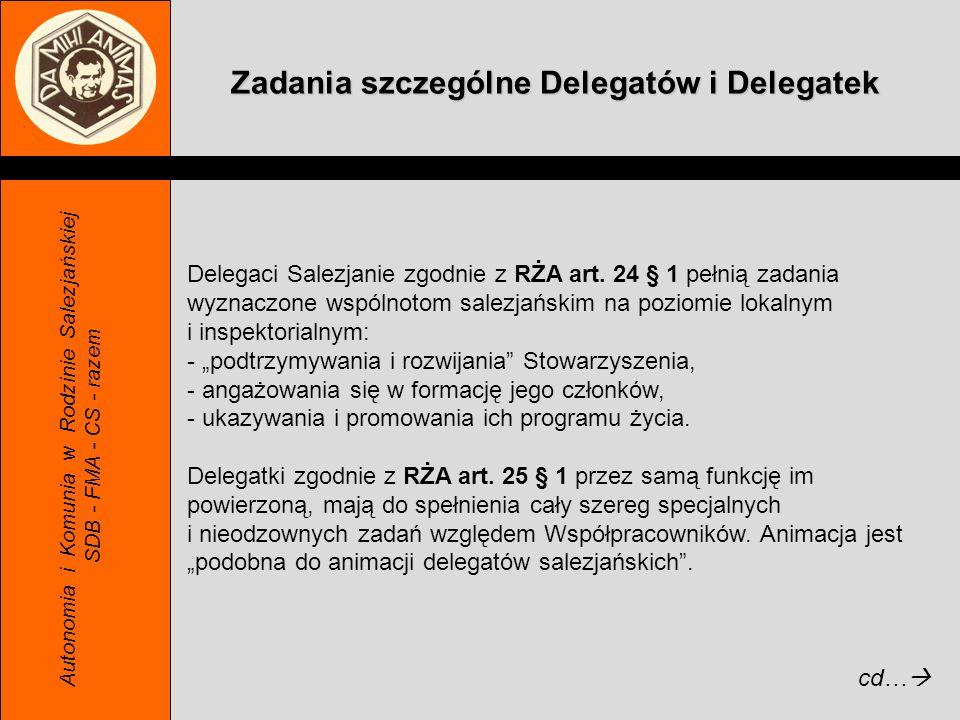 Zadania szczególne Delegatów i Delegatek