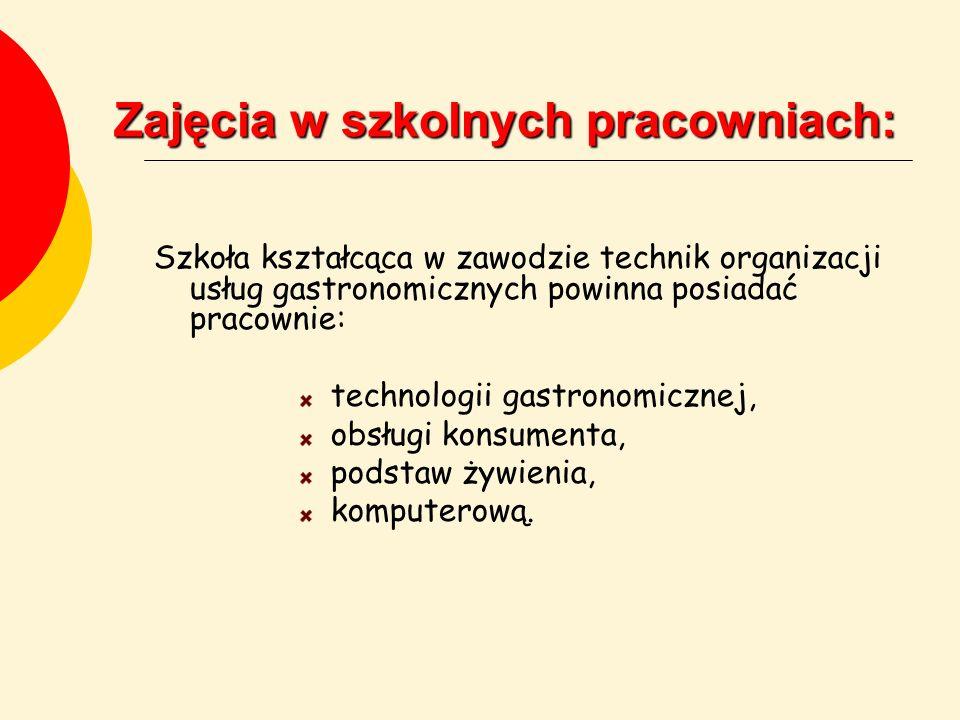 Zajęcia w szkolnych pracowniach: