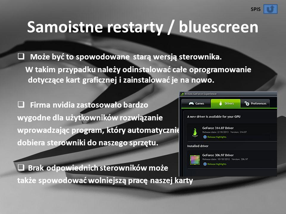 Samoistne restarty / bluescreen