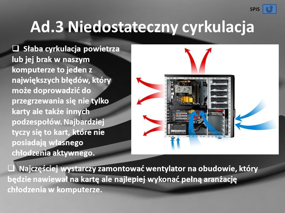 Ad.3 Niedostateczny cyrkulacja