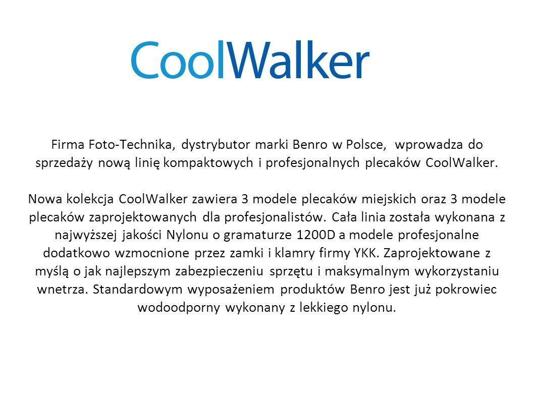 Firma Foto-Technika, dystrybutor marki Benro w Polsce, wprowadza do sprzedaży nową linię kompaktowych i profesjonalnych plecaków CoolWalker.