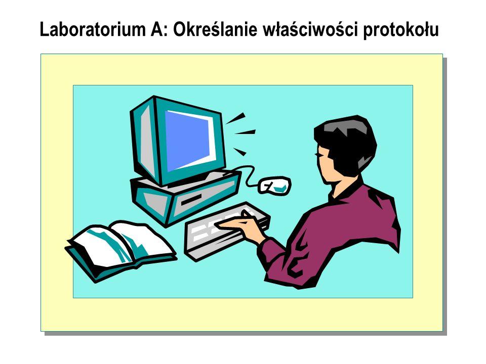Laboratorium A: Określanie właściwości protokołu