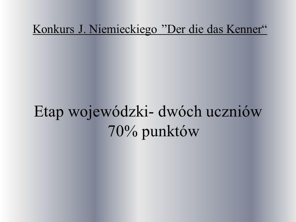 Konkurs J. Niemieckiego Der die das Kenner