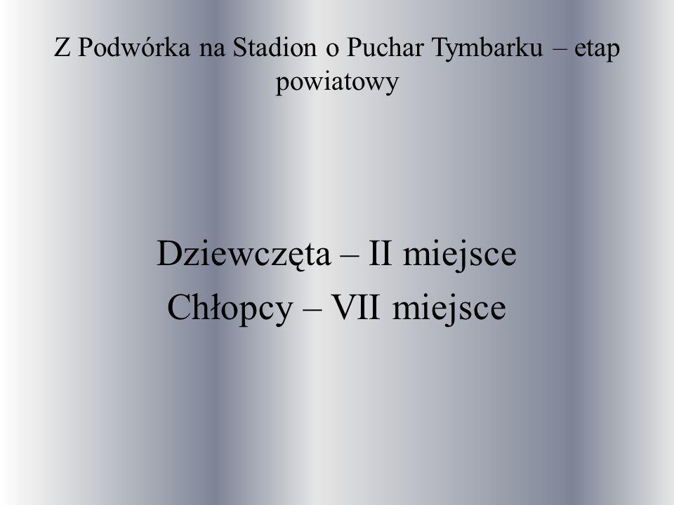 Z Podwórka na Stadion o Puchar Tymbarku – etap powiatowy