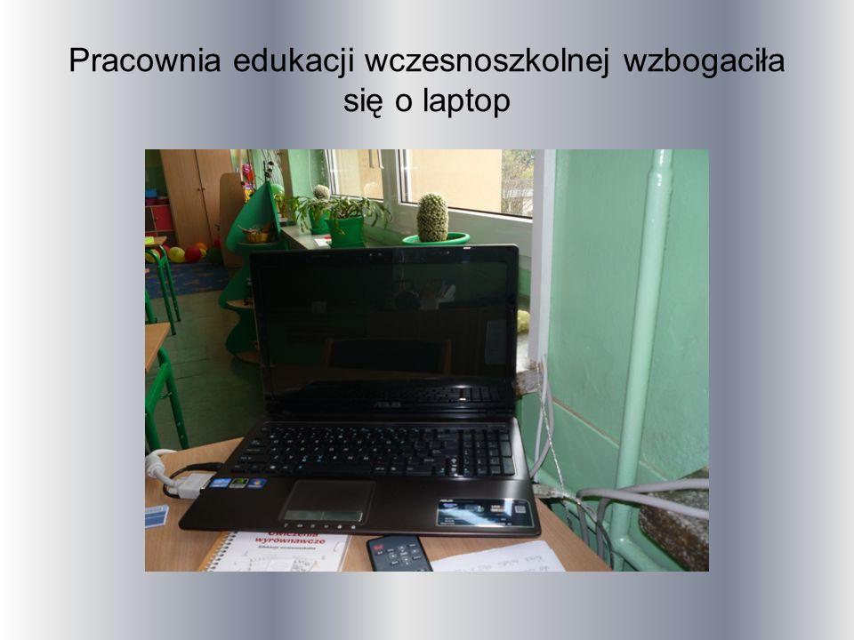 Pracownia edukacji wczesnoszkolnej wzbogaciła się o laptop