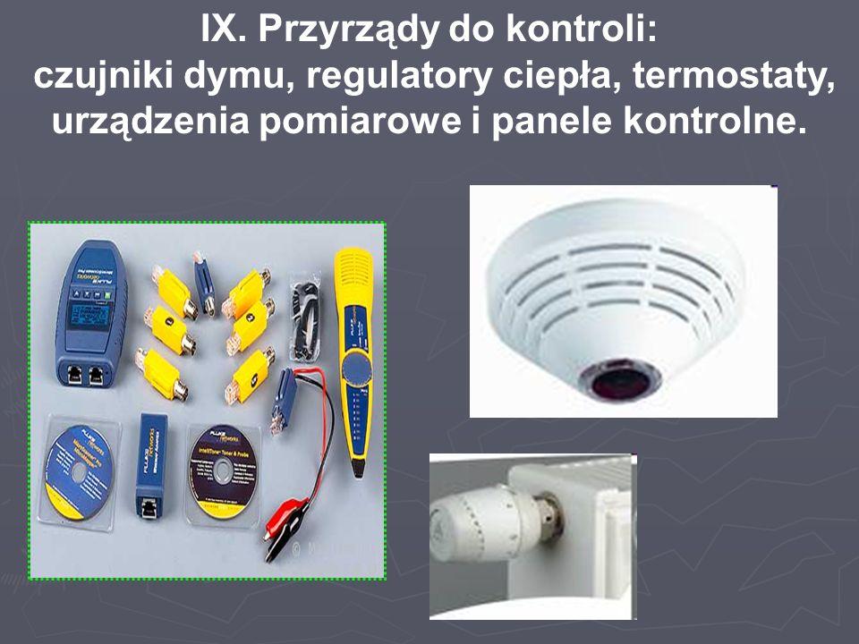 IX. Przyrządy do kontroli: