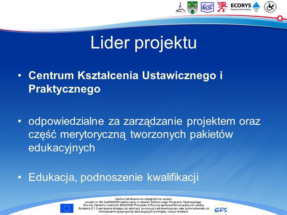 Lider projektu Centrum Kształcenia Ustawicznego i Praktycznego