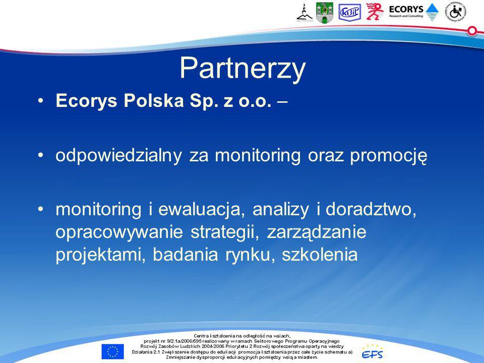 Partnerzy Ecorys Polska Sp. z o.o. –