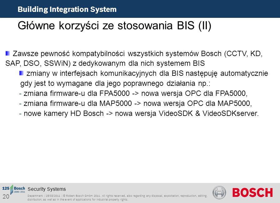 Główne korzyści ze stosowania BIS (II)