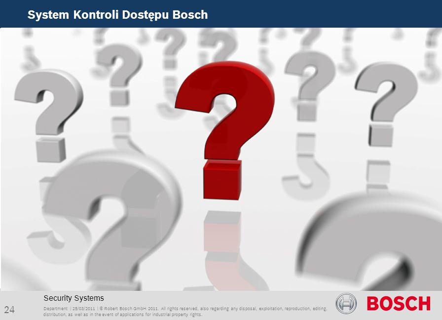 System Kontroli Dostępu Bosch