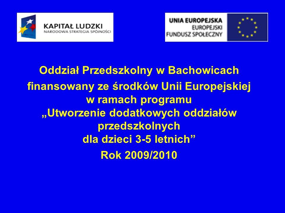 Oddział Przedszkolny w Bachowicach