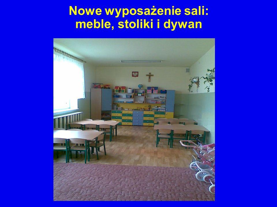 Nowe wyposażenie sali: