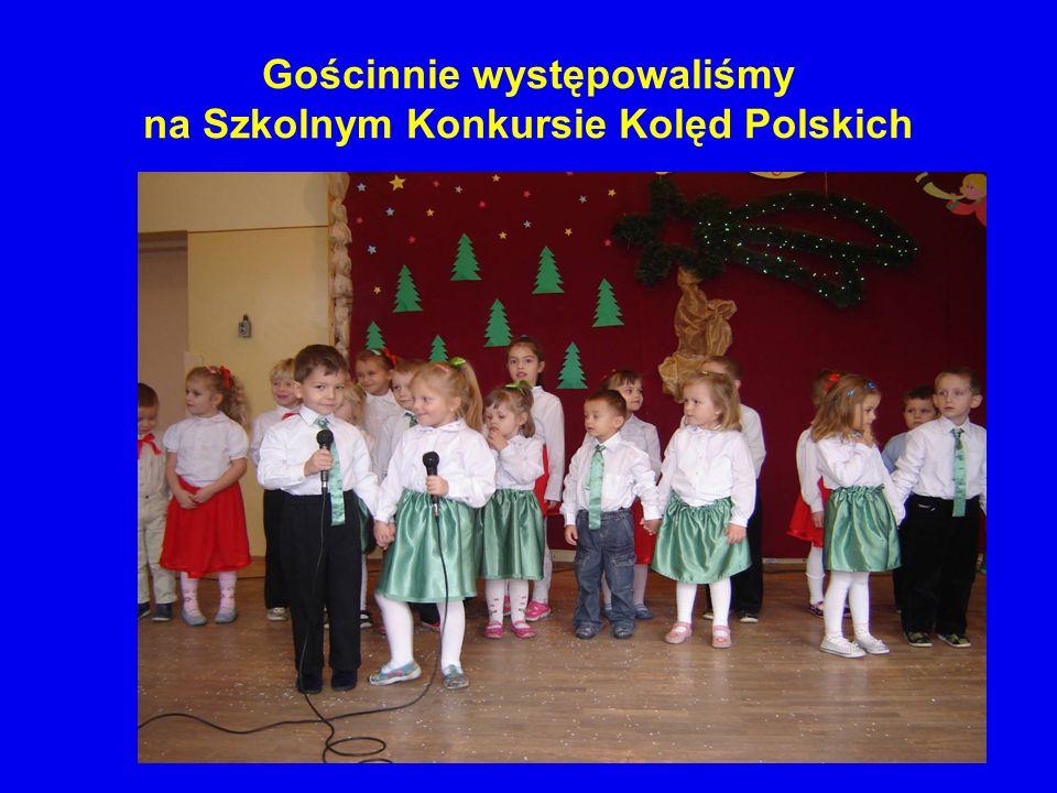 Gościnnie występowaliśmy na Szkolnym Konkursie Kolęd Polskich