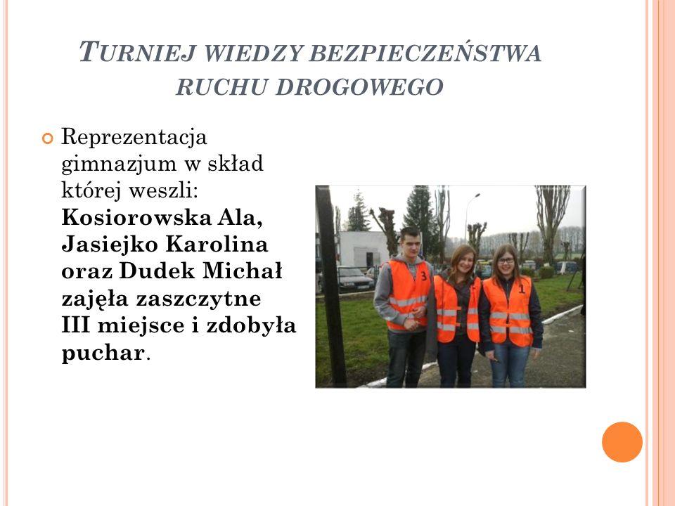 Turniej wiedzy bezpieczeństwa ruchu drogowego
