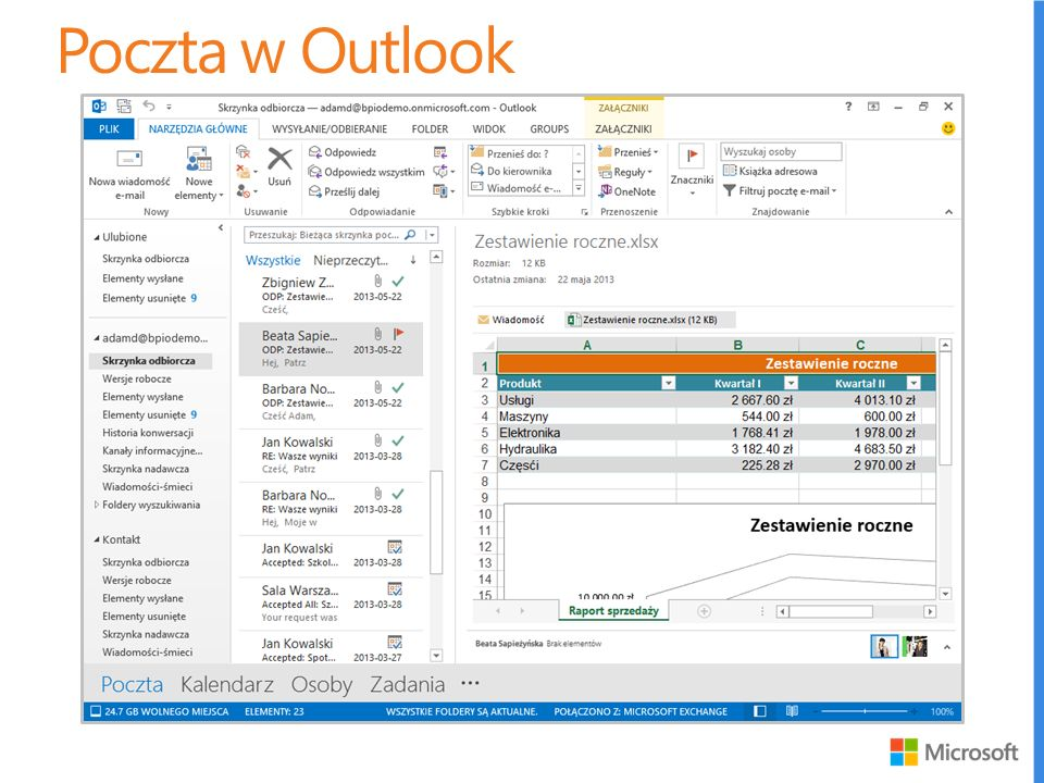 Poczta w Outlook