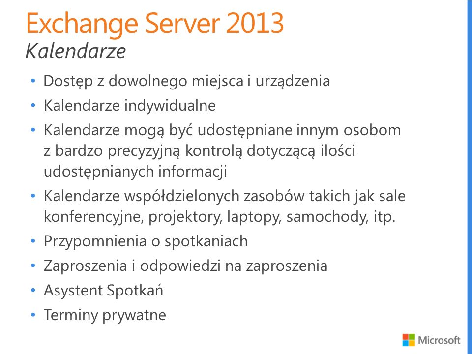 Exchange Server 2013 Kalendarze