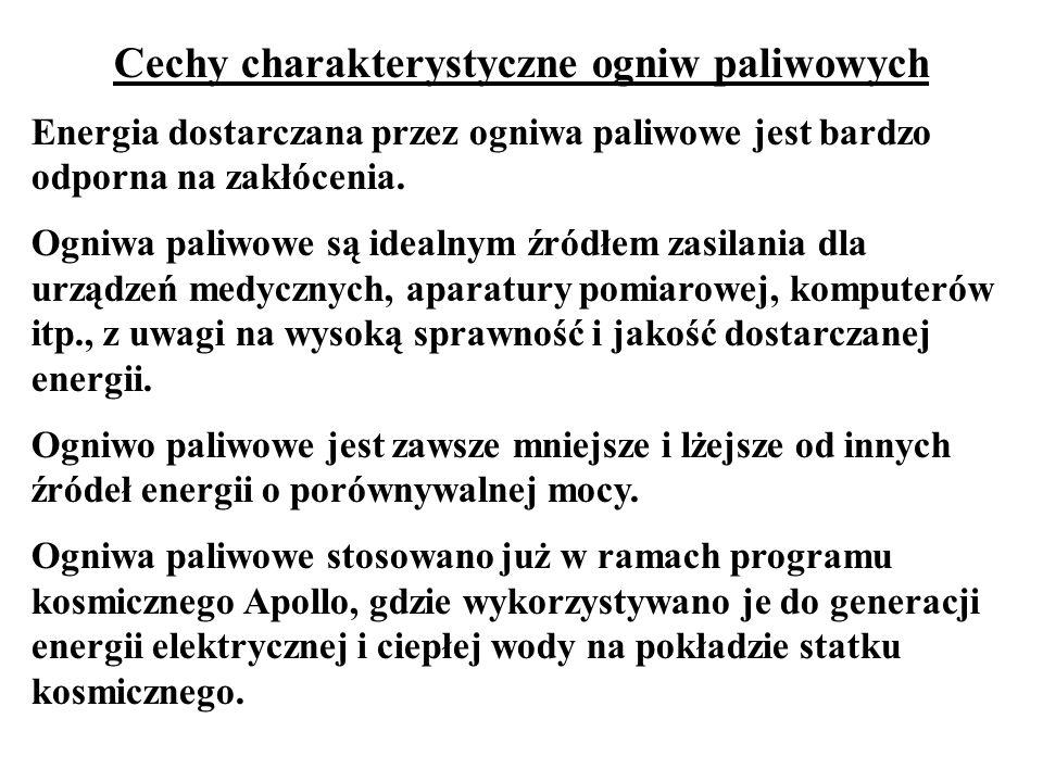 Cechy charakterystyczne ogniw paliwowych