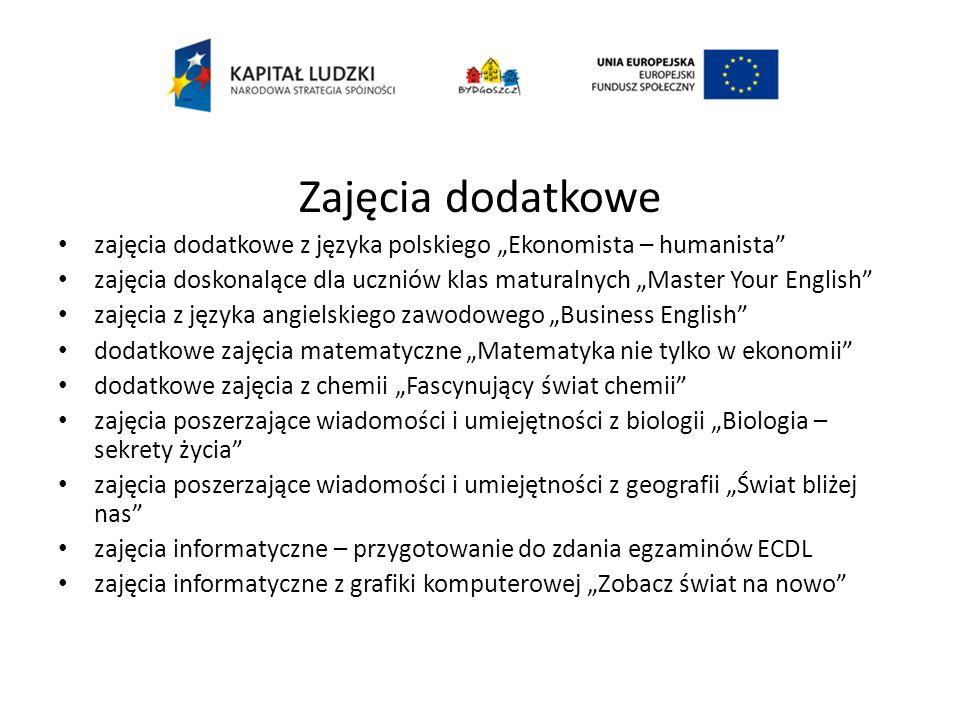 """Zajęcia dodatkowe zajęcia dodatkowe z języka polskiego """"Ekonomista – humanista"""