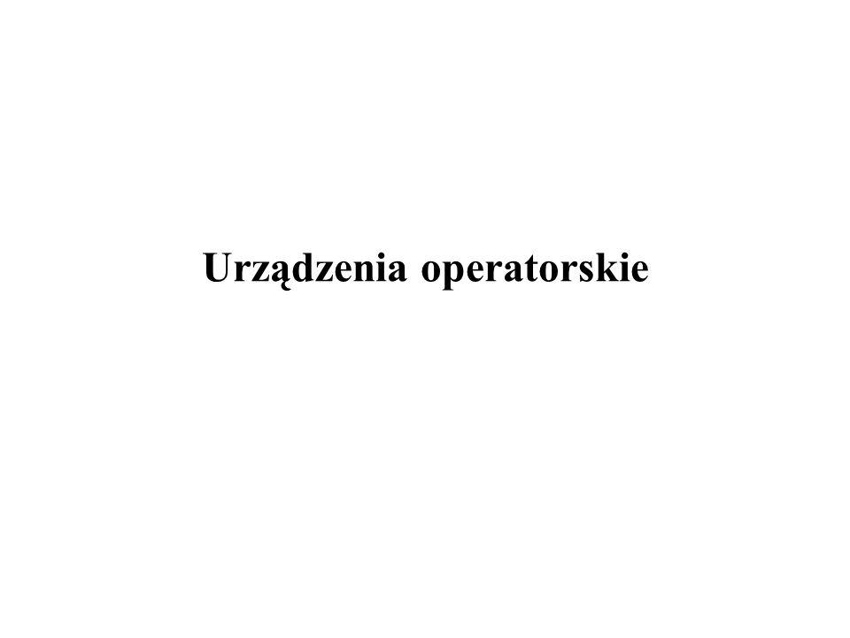 Urządzenia operatorskie