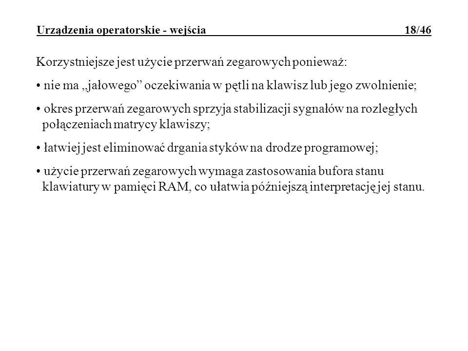 Urządzenia operatorskie - wejścia 18/46