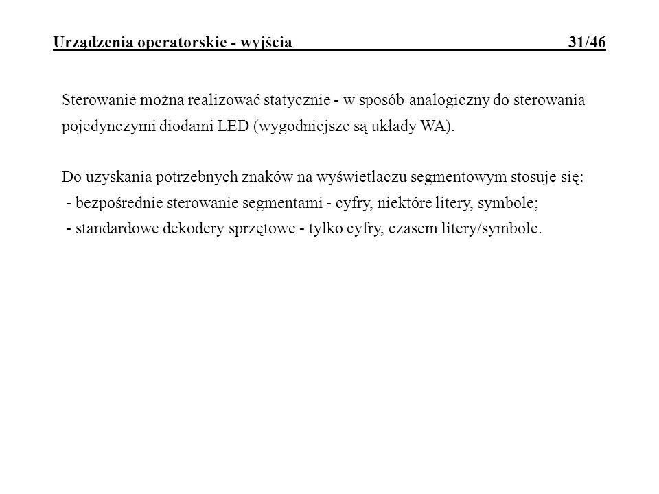 Urządzenia operatorskie - wyjścia 31/46