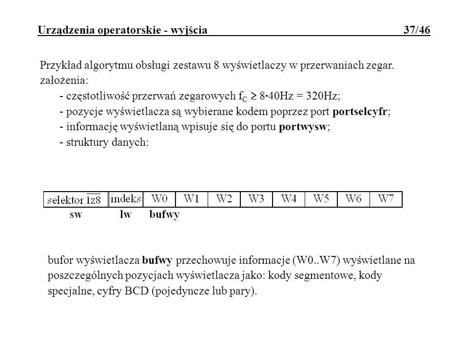 Urządzenia operatorskie - wyjścia 37/46