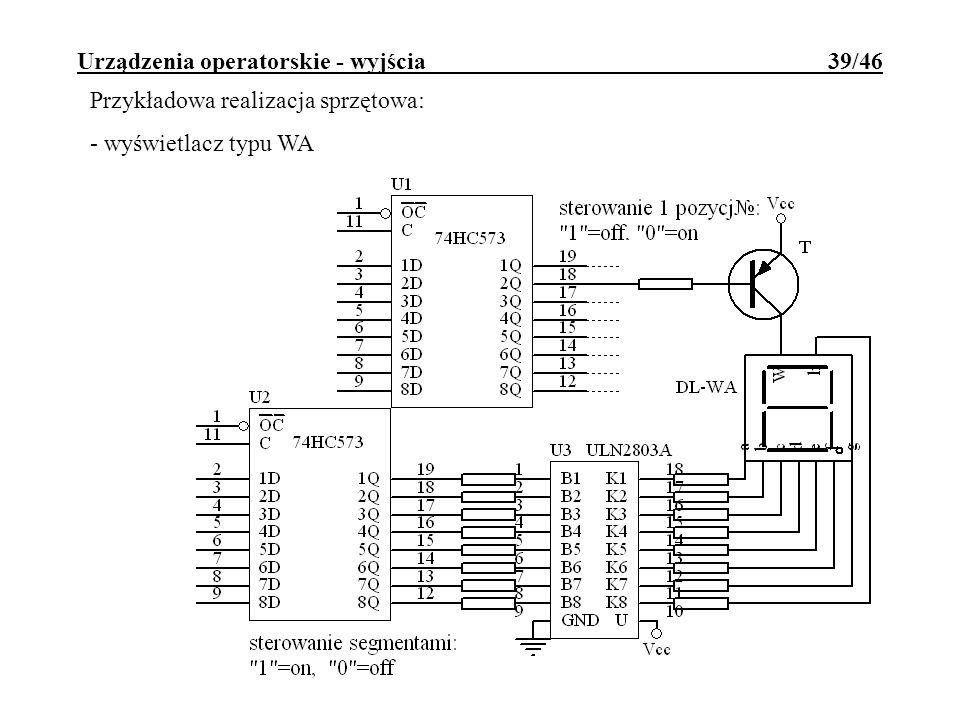 Urządzenia operatorskie - wyjścia 39/46