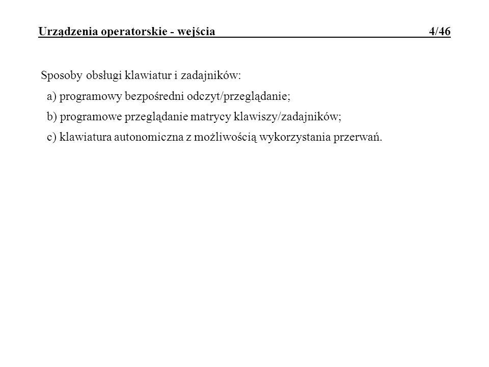 Urządzenia operatorskie - wejścia 4/46