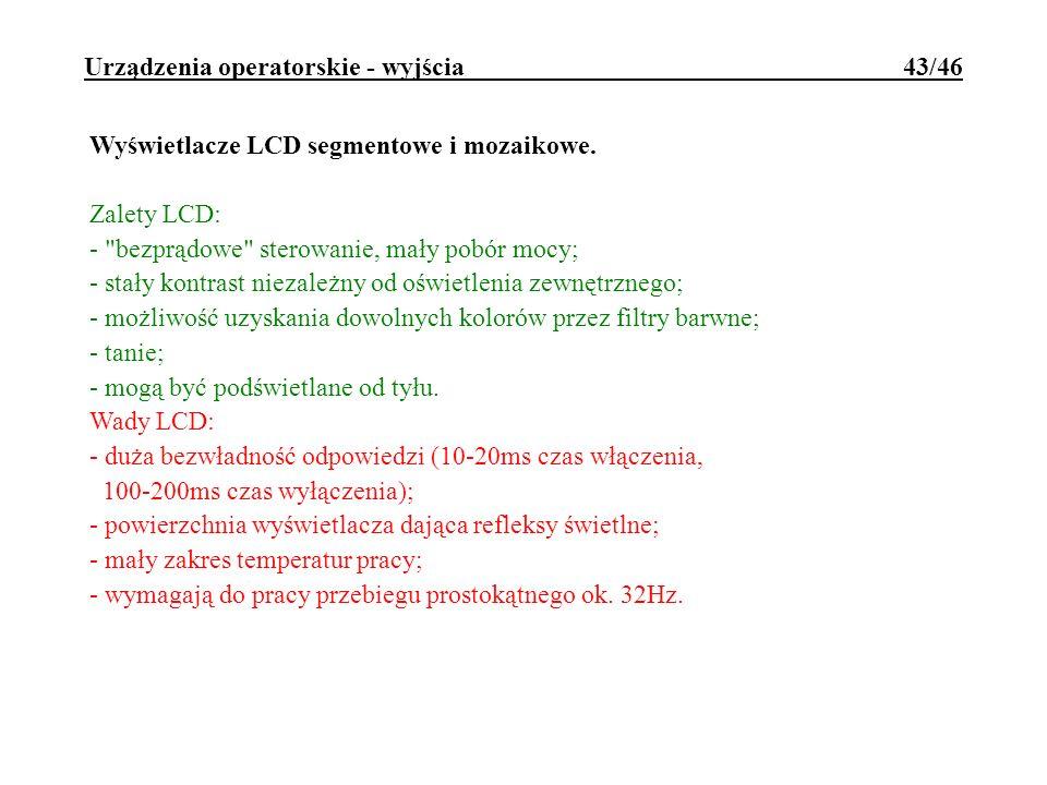 Urządzenia operatorskie - wyjścia 43/46